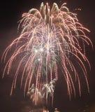Chicago, S 1° gennaio 2017 Fuochi d'artificio al pilastro della marina a welcom Fotografie Stock