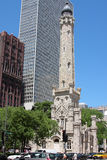 Chicago's historic Water Tower. Chicago's Water Tower on a bright sunny day Royalty Free Stock Images