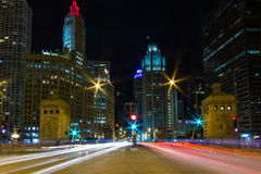 Chicago's Magnificent Mile Royalty Free Stock Photography