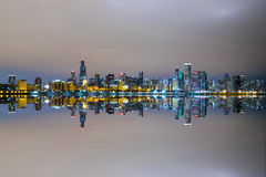 Chicago`s Skyline Mirrored Stock Images