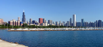Chicago's skyline at the morning Stock Images