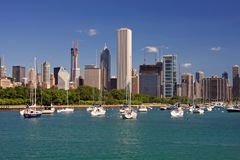 Chicago S Skyline On A Clear Day Stock Images