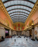 Chicago's Union Station. The Great Hall decorated for the holidays in Union Station in Chicago, Illinois Stock Photography