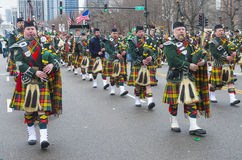 Chicago Saint Patrick parade Royalty Free Stock Images
