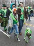 Chicago Saint Patrick parade Royalty Free Stock Images