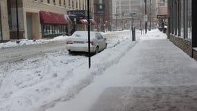 Chicago-Schneesturm Stockfoto