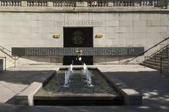 Chicago se rappelle le mémorial du Vietnam Images libres de droits