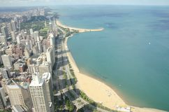 Chicago from Sears tower Royalty Free Stock Photography