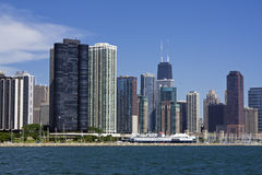 Chicago seen from the lake royalty free stock image