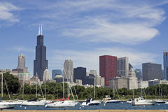 Chicago seen from Lake Michigan royalty free stock photo