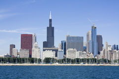 Chicago seen from Lake Michigan royalty free stock image