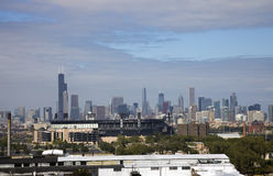 Chicago seen from South Side. Downtown Chicago seen from South Side stock images