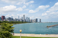 Chicago from Shedd Aquarium Stock Photos