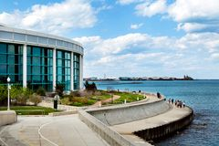 Chicago Shedd Aquarium with Lake Michigan Royalty Free Stock Photo