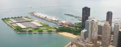 Chicago shoreline Royalty Free Stock Photos