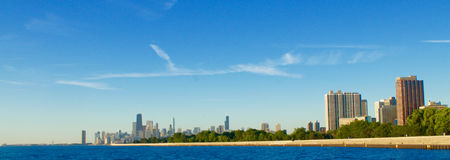 Chicago Shoreline. Chicago's shoreline with downtown in the background Royalty Free Stock Image