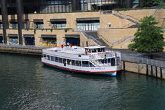 Chicago Sightseeing Boat Royalty Free Stock Photo