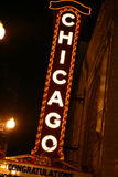 Chicago Sign. At night Royalty Free Stock Photos