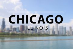 Chicago sign Stock Images