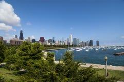 Chicago sikt av sjön Arkivfoto