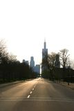 Chicago Silhouette. A silhouette of the city of Chicago, IL stock image