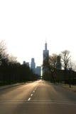 chicago silhouette Fotografering för Bildbyråer