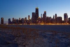 Chicago sky line Stock Photos