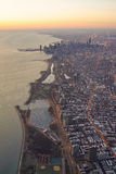 Chicago Skylie Sunrise Aerial View royalty free stock photos