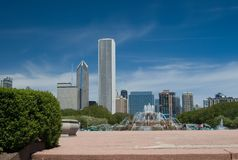 Chicago Skyline. Including Grant park Stock Photography