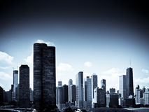 Chicago Skyline. On a bright sunny day Royalty Free Stock Images