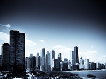 Chicago Skyline. On a bright sunny day Stock Photos