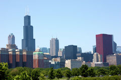 Chicago-Skyline Stockbilder