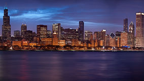 Chicago skyline. Stock Photos
