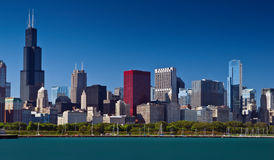 Chicago skyline. Royalty Free Stock Image