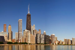 Chicago skyline. In the morning light royalty free stock photography