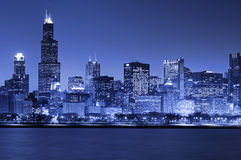 Chicago Skyline. Image of Chicago skyline at night stock photography