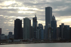 Chicago skyline. At sunset, Illinois Stock Photo