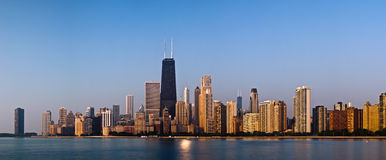 Chicago skyline. In the morning light royalty free stock photo