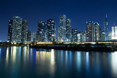Chicago Skyline. The Chicago Skyline at night royalty free stock photography