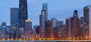 Chicago-Skyline. Lizenzfreie Stockbilder