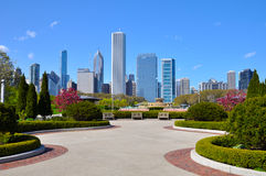 Chicago skyline. View from Grant Park Royalty Free Stock Photos