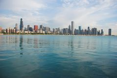 Chicago skyline. Morning photo of city from south side of Lake Shore Drive, Chicago Stock Images