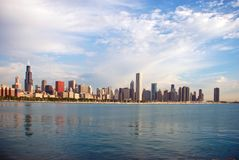 Chicago skyline. Morning photo of city from south side of Lake Shore Drive, Chicago stock photo