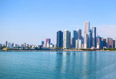 Chicago Skyline. From Lake Michigan in summer time Royalty Free Stock Photos