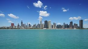 Chicago-Skyline Lizenzfreies Stockbild