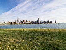 Chicago skyline. Urban cityscape skyline of Chicago, Illinois on Lake Michigan Royalty Free Stock Photography