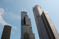 Chicago Skyline. A view of the Chicago skyline as seen from the River Royalty Free Stock Image