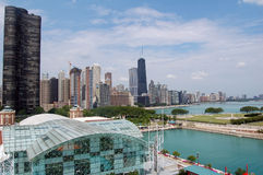 Chicago Skyline. A view of the Chicago skyline as seen from the Navy Pier Royalty Free Stock Images