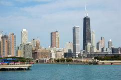 Chicago Skyline. A view of the Chicago Skyline as seen from the Navy Pier Stock Image