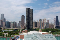 Chicago Skyline. A view of the Chicago skyline as seen from the Navy Pier Stock Images